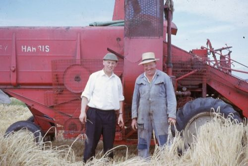 Bill Cragg and Peter Cripps and Massey Ferguson Combine, 1965